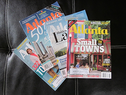 My own paid-for copies of Atlanta Magazine.