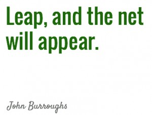 Leap and Net will appear quote