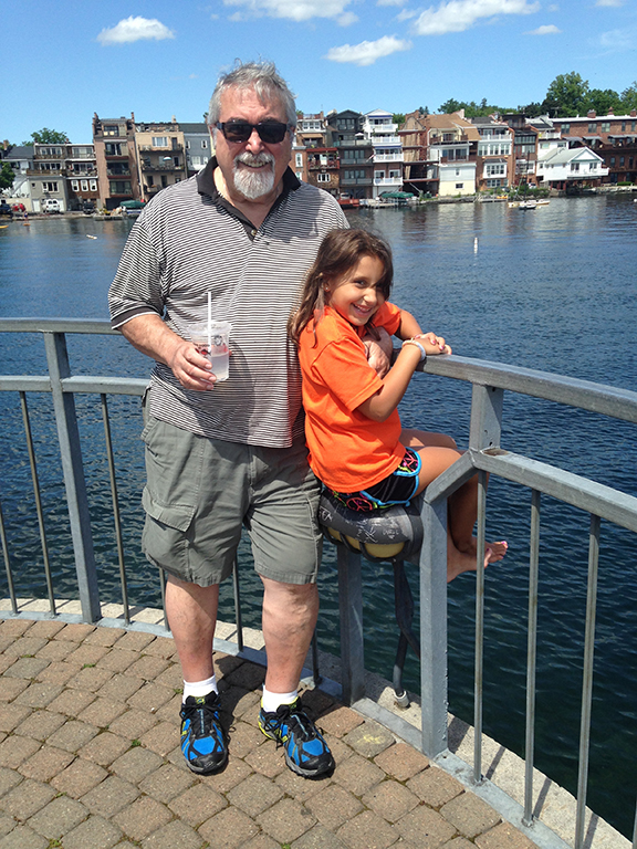 "Dad and Antonia on a family trip ""back home"" in the Finger Lakes, Summer 2014"
