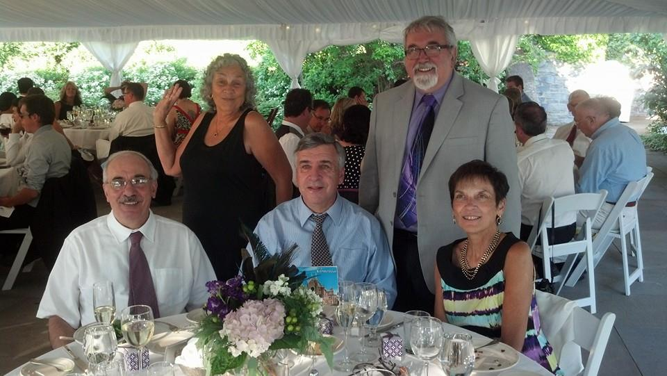 Mom, Dad, Aunt Ginny, Uncle Mark and Uncle Joe at my cousin's wedding, Summer 2014.