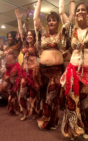 One of my belly dance performances at Nicola's Lebanese Restaurant, Atlanta.